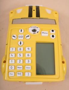 Robot ProBot vu de dessus: clavier et écran